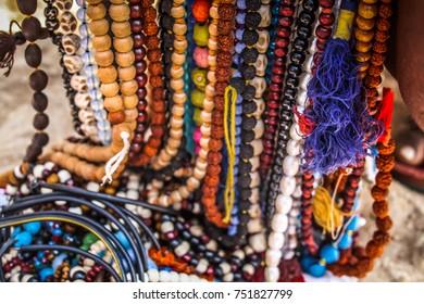 Colored jewelry from the beach GOKARNA OM BEACH INDIA