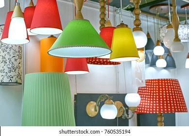 colored lampshades for chandeliers