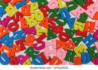Colored letters close up which symbolize knowledge and learning