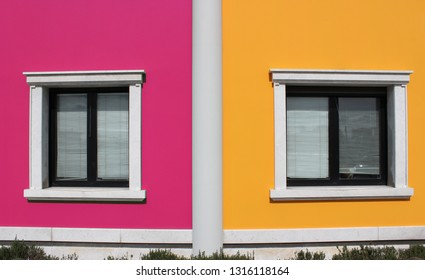 Colored Minimalism - Pink blu and yellow