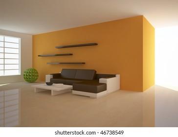 colored modern interior