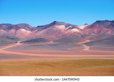 Colored mountains in Atacama desert - Bolivia, South America
