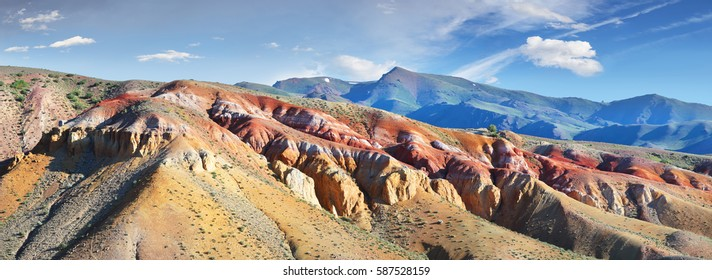 Colored mountains in the south of the Altai