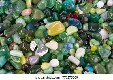colored pebbles closeup