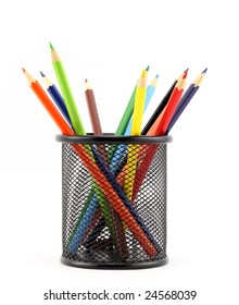 colored pencil in can