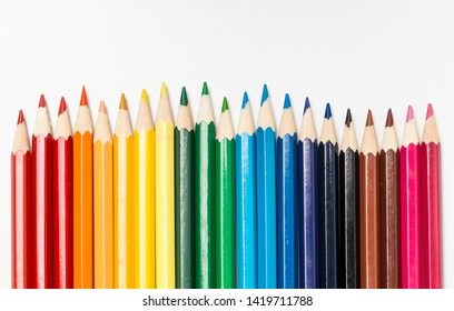 A colored pencil for drawing