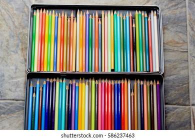 colored pencil tray.