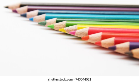Colored Pencils art supplies.