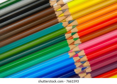 colored pencils in diagonal patter #3