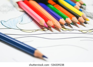 Colored pencils for drawing and illustration
