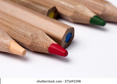 Colored pencils colored pencils on white background