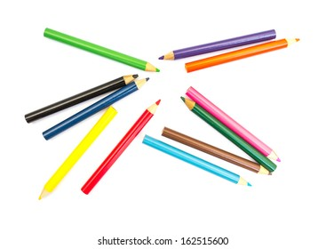 Colored Pencils for School on white