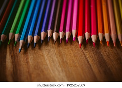 Colored pencils with selective focus.