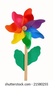 Colored pinwheel isolated on white