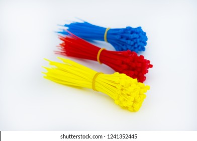 Colored plastic cable ties