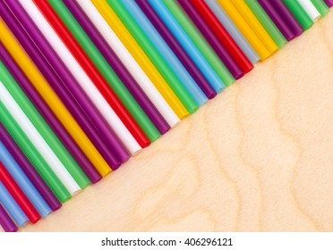 colored plastic cocktail tubules