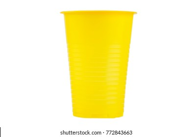 Colored plastic cup