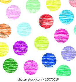 colored polka dots background