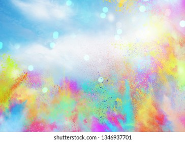 Colored powders for spring holi color party