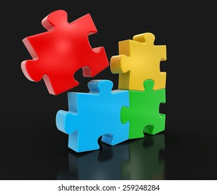 Colored Puzzle (clipping path included)