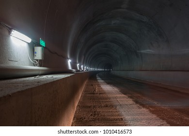 colored railway tunnel