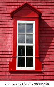 Colored red window