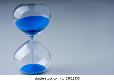 colored retro hourglass to measure time