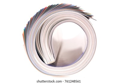 Colored rolled magazine