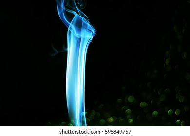colored smoke on blurred background