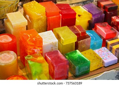 colored soap