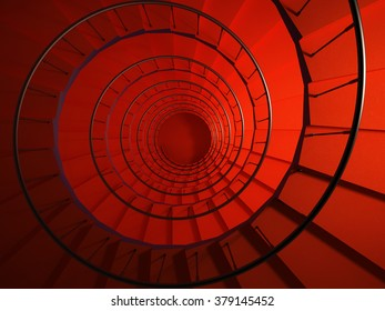 Colored Spiral stairway