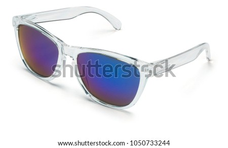 27b30a0ce028 Colored Sports Glasses Stock Photo (Edit Now) 1050733244 - Shutterstock