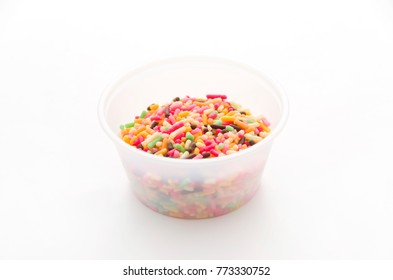 Colored sprinkles,decoration for cake and bekery, Color spray in cup