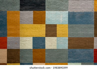 Colored square mural in an urban setting. Ideal for phone or PC backgrounds