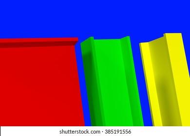 Colored steel beams