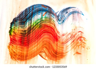colored strokes of brush  over background