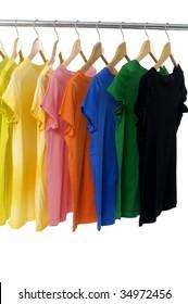 colored Tee Shirts display