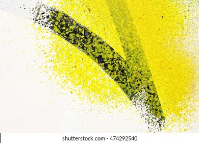 Colored texture background, painted yellow paint