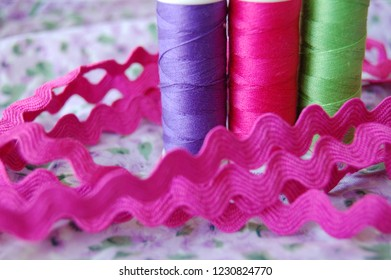 Colored threads ready for crafts