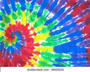 colored tie-dye