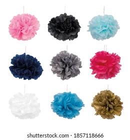 colored tissue paper decorative ornaments