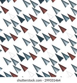 Colored triangular  pattern on white background