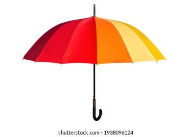 colored umbrella isolated on white background