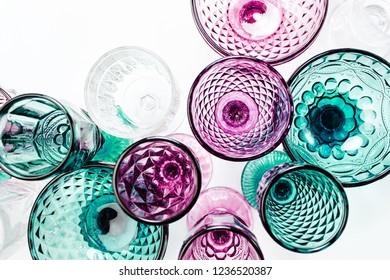 Colored Vintage Goblets