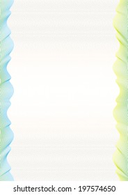 Colored wavy lines certificate on light background for your text.