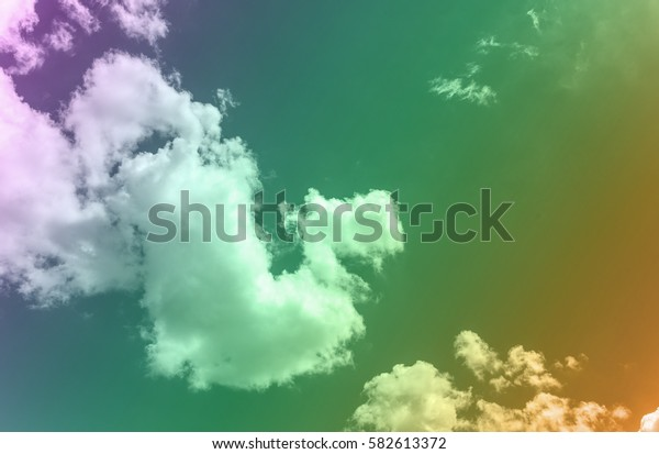 Colorfilter sky and cloud