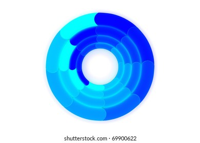 Colorful 3d pie graph isolated on white