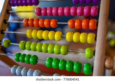 Colorful abacus board for education and learning