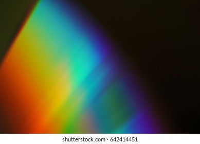 Colorful abstract background. Close up of CD.