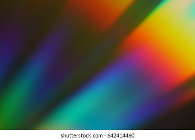 Colorful abstract background. Rainbow on CD.